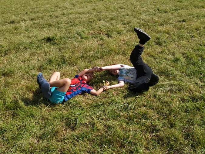Day 7 - fun rolling in the grass #Loofest