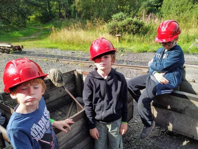Day 39 - Grumpy boys at Beamish Mine